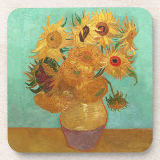Vincent Van Gogh Twelve Sunflowers In A Vase Beverage Coaster