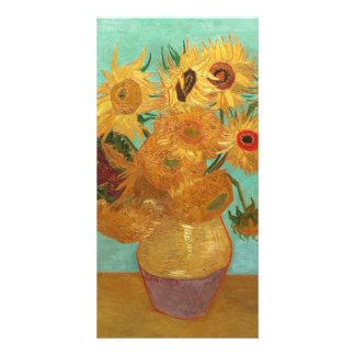 Vincent Van Gogh Twelve Sunflowers In A Vase Card