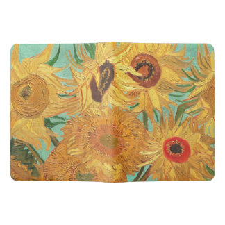 Vincent Van Gogh Twelve Sunflowers In A Vase Extra Large Moleskine Notebook Cover With Notebook