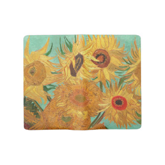Vincent Van Gogh Twelve Sunflowers In A Vase Large Moleskine Notebook Cover With Notebook