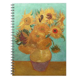 Vincent Van Gogh Twelve Sunflowers In A Vase Notebook