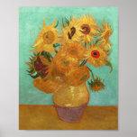 Vincent Van Gogh Twelve Sunflowers In A Vase Poster