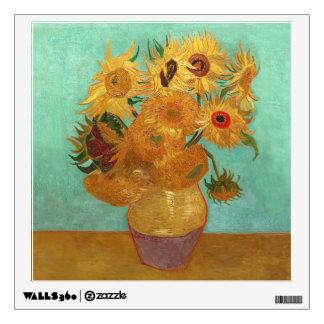 Vincent Van Gogh Twelve Sunflowers In A Vase Wall Decal