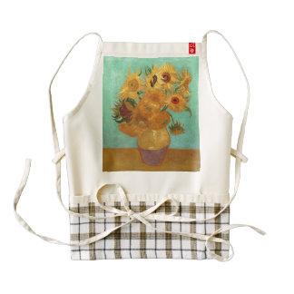 Vincent Van Gogh Twelve Sunflowers In A Vase Zazzle HEART Apron