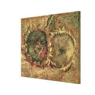 Vincent van Gogh | Two Cut Sunflowers, 1887 Canvas Print