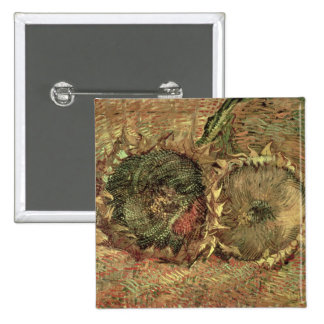Vincent van Gogh | Two Cut Sunflowers, 1887 Pinback Button