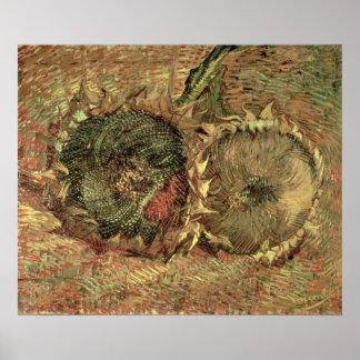 Vincent van Gogh | Two Cut Sunflowers, 1887 Poster