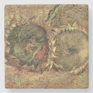 Vincent van Gogh | Two Cut Sunflowers, 1887 Stone Coaster