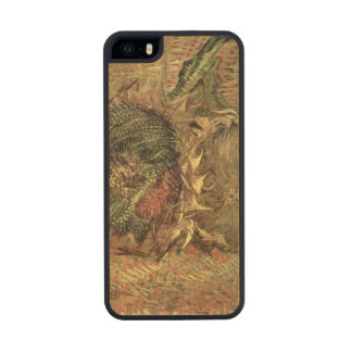 Vincent van Gogh | Two Cut Sunflowers, 1887 Wood Phone Case For iPhone SE/5/5s