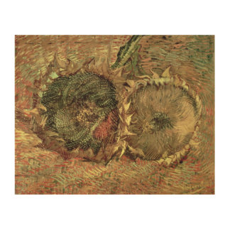Vincent van Gogh | Two Cut Sunflowers, 1887 Wood Wall Decor