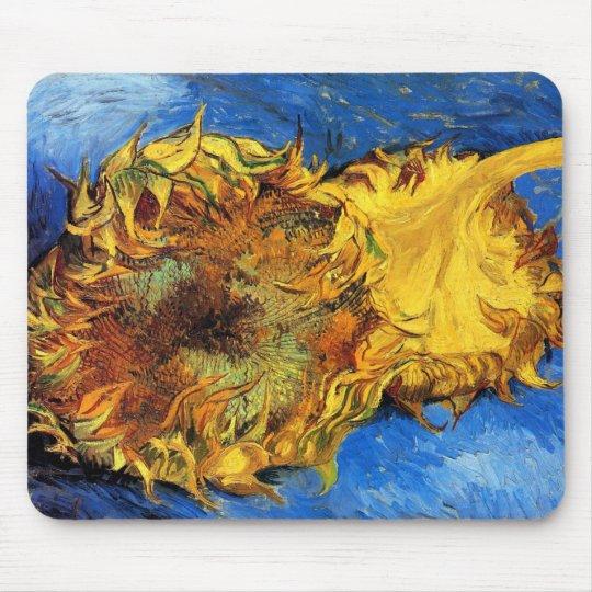 Vincent Van Gogh - Two Cut Sunflowers - Fine Art Mouse Pad