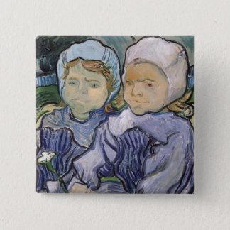 Vincent van Gogh | Two Little Girls, 1890 Pinback Button