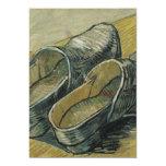 Vincent van Gogh - un par de estorbos de cuero Invitación 12,7 X 17,8 Cm