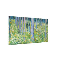Vincent van Gogh - Undergrowth with Two Figures Gallery Wrap Canvas