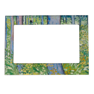 Vincent van Gogh - Undergrowth with Two Figures Magnetic Picture Frame