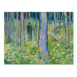 Vincent van Gogh - Undergrowth with Two Figures Postcard