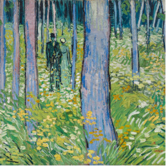 Vincent van Gogh - Undergrowth with Two Figures Statuette