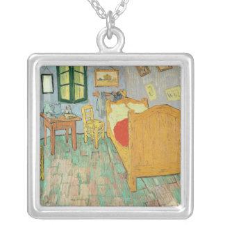 Vincent van Gogh | Van Gogh's Bedroom at Arles Silver Plated Necklace