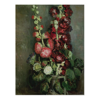 Vincent van Gogh | Vase of Hollyhocks, 1886 Postcard