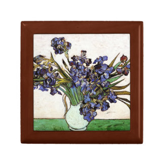 Vincent Van Gogh - Vase of Irises Keepsake Boxes