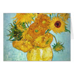 Vincent van Gogh - Vase with 12 Sunflowers Card