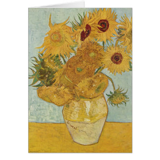 Vincent Van Gogh Vase With 12 Sunflowers Greeting Card