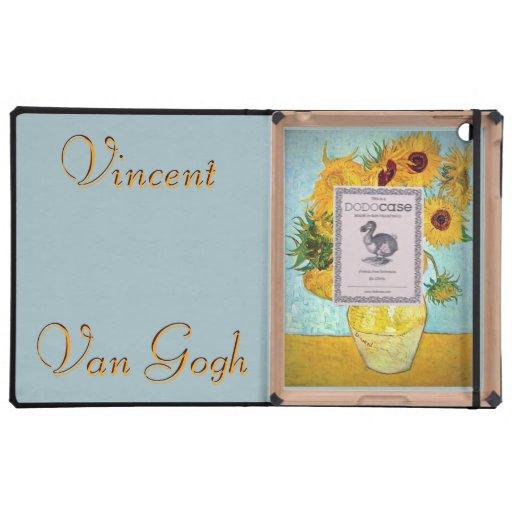 Vincent van Gogh - Vase with 12 Sunflowers iPad Folio Case