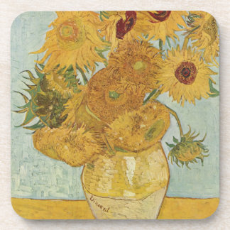 Vincent Van Gogh Vase With 12 Sunflowers Drink Coaster