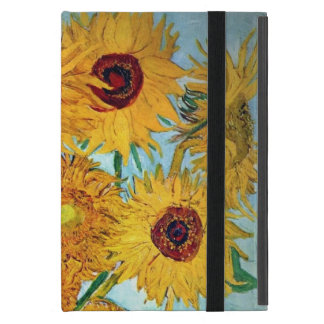 Vincent van Gogh - Vase with 12 Sunflowers Covers For iPad Mini