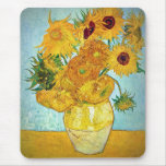 Vincent van Gogh - Vase with 12 Sunflowers Mouse Pad