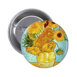 Vincent van Gogh - Vase with 12 Sunflowers Pinback Button