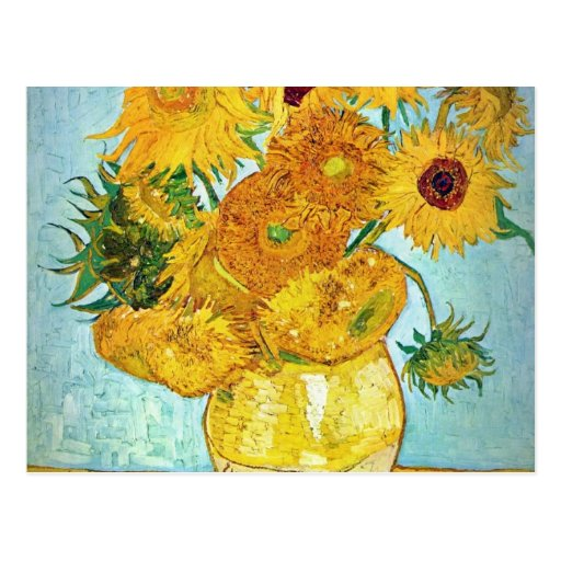 Vincent van Gogh - Vase with 12 Sunflowers Post Card