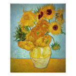 Vincent van Gogh - Vase with 12 Sunflowers Poster