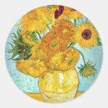 Vincent van Gogh - Vase with 12 Sunflowers Sticker
