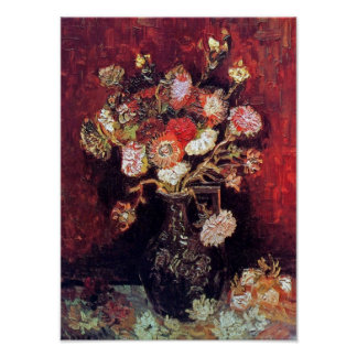Vincent Van Gogh - Vase With Asters And Phlox Poster