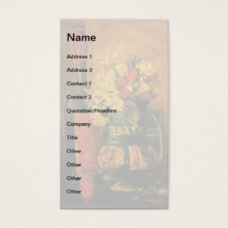 Vincent Van Gogh - Vase With Carnations Fine Art Business Card