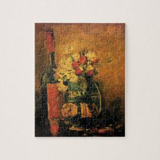 Vincent Van Gogh - Vase With Carnations Fine Art Jigsaw Puzzle