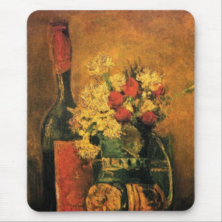 Vincent Van Gogh - Vase With Carnations Fine Art Mouse Pad