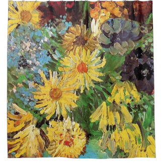 Vincent Van Gogh - Vase With Daisies And Anemones Shower Curtain