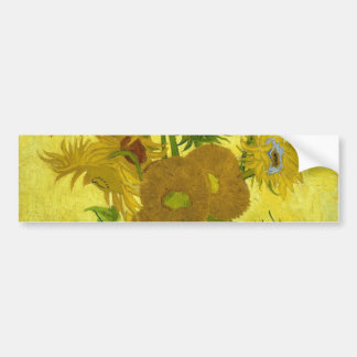 Vincent Van Gogh Vase With Fifteen Sunflowers 1888 Bumper Sticker