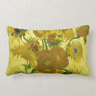 Vincent Van Gogh Vase With Fifteen Sunflowers 1888 Lumbar Pillow