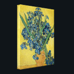 """Vincent Van Gogh Vase With Irises Canvas Print<br><div class=""""desc"""">Vincent Van Gogh Yellow Vase With Blue Irises Fine Art Canvas Print Vincent van Gogh was a Dutch post-Impressionist painter whose work, notable for its rough beauty, emotional honesty and bold color, had a far-reaching influence on 20th-century art. While in the asylum at Saint-Remy, France, Van Gogh overcame a period...</div>"""