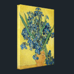 "Vincent Van Gogh Vase With Irises Canvas Print<br><div class=""desc"">Vincent Van Gogh Yellow Vase With Blue Irises Fine Art Canvas Print Vincent van Gogh was a Dutch post-Impressionist painter whose work, notable for its rough beauty, emotional honesty and bold color, had a far-reaching influence on 20th-century art. While in the asylum at Saint-Remy, France, Van Gogh overcame a period...</div>"