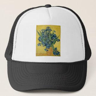 Vincent Van Gogh Vase With Irises Vintage Art 1890 Trucker Hat