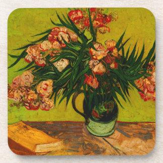Vincent Van Gogh Vase With Oleanders And Books Drink Coaster