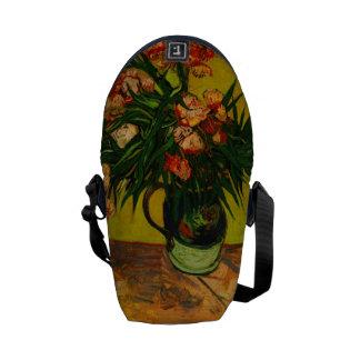 Vincent Van Gogh Vase With Oleanders And Books Messenger Bag