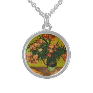 Vincent Van Gogh Vase With Oleanders And Books Pendants