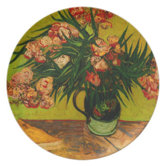 Vincent Van Gogh Vase With Oleanders And Books Plate