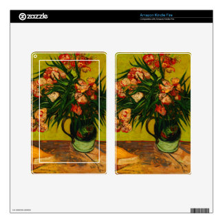 Vincent Van Gogh Vase With Oleanders And Books Decal For Kindle Fire