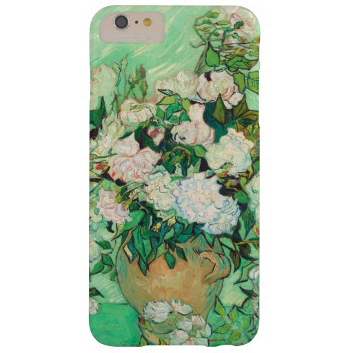 Vincent Van Gogh Vase with Pink Roses Fine Art Barely There iPhone 6 Plus Case
